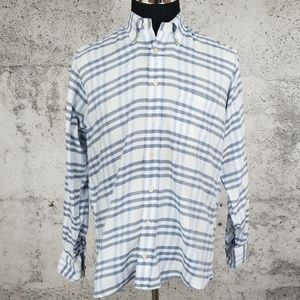 BURBERRY LONDON Brushed Cotton Window Pane Shirt